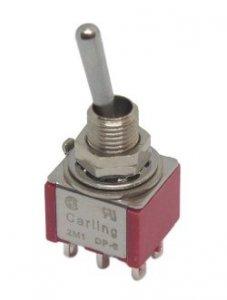 Przełącznik dźwigniowy DPDT Carling mini
