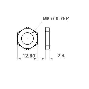 Nakrętka M9 niklowana