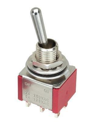 Przełącznik DPDT M212 mini ON-(ON) chwilowy