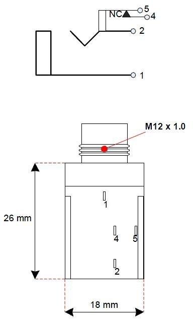 Gniazdo Jack 6,3mm Fender mono