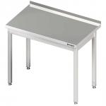 stół stalowy bez półki, przyścienny, skręcany, 600x600x850 mm