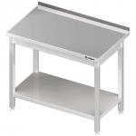 stół stalowy z półką, przyścienny, spawany, 1000x700x850 mm