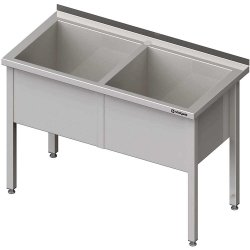 Stół z basenem 2-komorowym spawany 1200x700x850 mm h=400 mm