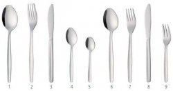 Sztućce Budget Line nóż stołowy - zestaw 12 szt.