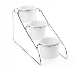Stojak bufetowy z pojemnikami 1l z melaminy - zestaw; stojak + 3x1L -