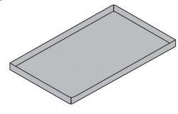 Taca aluminiowa pokryta powłoką teflonową