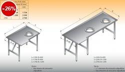 Stół sortowniczy kątowy prawy lo 308 - 1700x1200 Lozamet