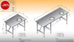 Stół sortowniczy prosty prawy lo 302 - 1700x800 Lozamet