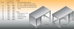 Stół roboczy z szafką lo 116/l; lo 116/p 1400/700