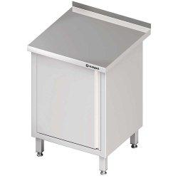 Stół przyścienny z drzwiami skrzydłowymi 500x700x850 mm