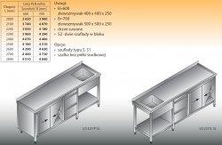 Stół zlewozmywakowy 1-zbiornikowy lo 227/s2 - 2700x700