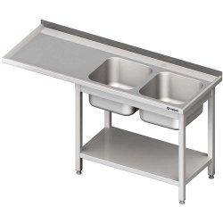 Stół ze zlewem 2-kom.(P) i miejscem na lodówkę lub zmywarkę 2300x600x900 mm