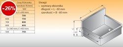 Zlewozmywak 1-komorowy ścienny lo 411 - 800x500