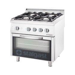 kuchnia gazowa 4 palnikowa wym. 800x700x850 z piekarnikiem gazowym (800) 24+5 kW- G30/31 (propan-butan)