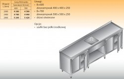 Stół zlewozmywakowy 1-zbiornikowy lo 221 - 2800x600