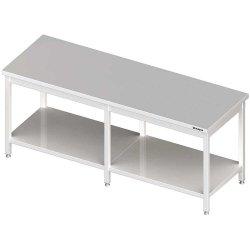 Stół centralny z półką 2100x700x850 mm spawany