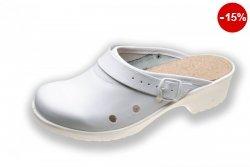 Obuwie specjalistyczne na spodach antypoślizgowych z profilem ortopedycznym i cholewką skórzaną 011lwh