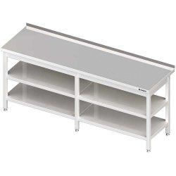 Stół przyścienny z 2-ma półkami 2400x600x850 mm spawany
