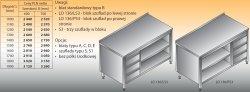 Stół roboczy z blokiem szuflad i szafką otwartą lo 136/s3 - 1400x600