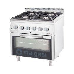kuchnia gazowa z piekarnikiem elektrycznym, 4-palnikowa, P 24 +7 kW, U G20