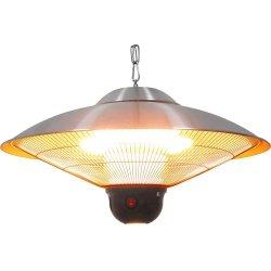 wisząca lampa grzewcza ze zdalnym sterowaniem i oświetleniem LED