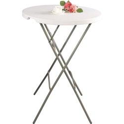 Stół cateringowy barowy składany okrągłu fi 800x1100