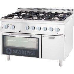 kuchnia gazowa 6 palnikowa wym. 1200x700x850 z piekarnikiem gazowym (800) 32,5+5 kW - G30/31 (propan-butan)