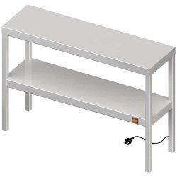 Nadstawka grzewcza na stół podwójna  1300x300x700 mm