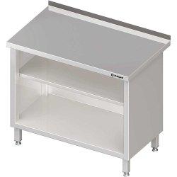 Stół przyścienny, zabudowany z 2-ma półkami 400x600x850 mm