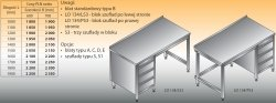 Stół roboczy z blokiem szuflad lo 134/s3 - 1900x700