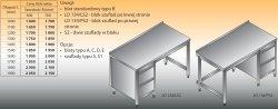 Stół roboczy z blokiem szuflad lo 134/s2 - 1100x700