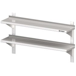 Półka wisząca, przestawna,podwójna 1100x300x660 mm