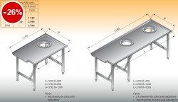 Stół sortowniczy prosty lewy lo 304 - 2200x800 Lozamet