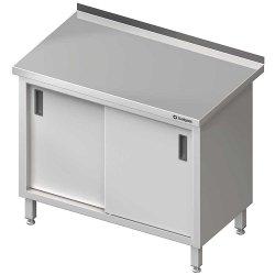 Stół stalowy przyścienny z drzwiami suwanymi 1200x600x850 mm