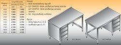 Stół roboczy z blokiem szuflad lo 134/s3 - 1700x600