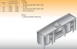 Stół zlewozmywakowy 1-zbiornikowy lo 221 - 2400x700