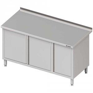 Stół przyścienny z szafką (P),drzwi skrzydłowe 1700x700x850 mm