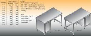 Stół roboczy z szafką lo 116/l; lo 116/p 1100/700