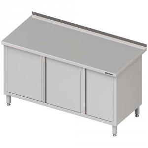 Stół przyścienny z szafką (P),drzwi skrzydłowe 1600x700x850 mm