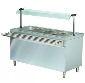 Stanowisko chłodnicze z ladą sałatkową z podstawą otwartą RS714FN | 1470x700x1245 | 4GN1/1