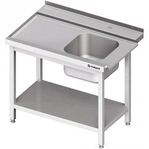 Stół załadowczy(L) 1-kom. z półką do zmywarki STALGAST 1100x750x880 mm skręcany