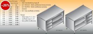 Stół roboczy z blokiem szuflad i szafką otwartą lo 136/s3 - 1000x600