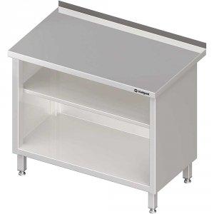 Stół przyścienny, zabudowany z 2-ma półkami 1400x700x850 mm