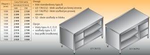 Stół roboczy z blokiem szuflad i szafką otwartą lo 136/s2 - 1300x600