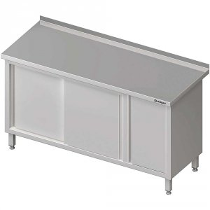 Stół przyścienny z szafką (P),drzwi suwane 1800x700x850 mm
