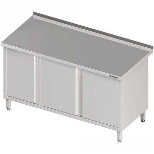 Stół przyścienny z szafką (L),drzwi skrzydłowe 1900x600x850 mm