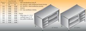 Stół roboczy z blokiem szuflad i szafką otwartą lo 136/s3 - 1800x700