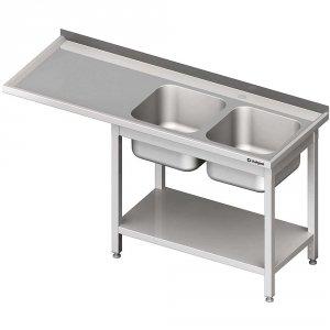 Stół ze zlewem 2-kom.(P) i miejscem na lodówkę lub zmywarkę 2200x700x900 mm