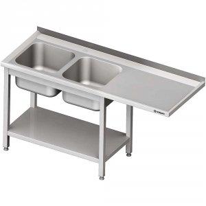 Stół ze zlewem 2-kom.(L) i miejscem na lodówkę lub zmywarkę 2400x700x900 mm