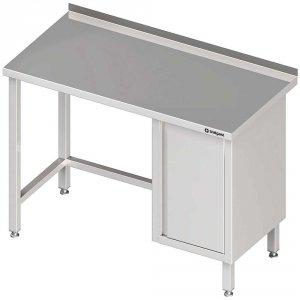 Stół przyścienny z szafką (P),bez półki 1400x700x850 mm